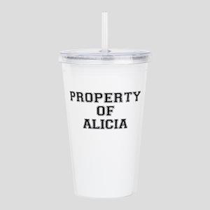 Property of ALICIA Acrylic Double-wall Tumbler