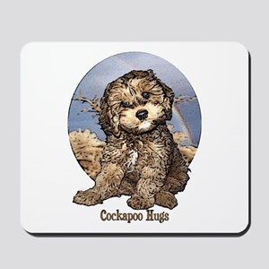 Starlo's Sugar 'n' Spice Cockapoo Hugs Mousepad