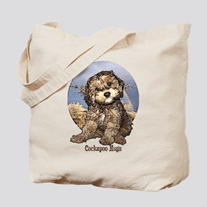 Starlo's Sugar 'n' Spice Cockapoo Hugs Tote Bag