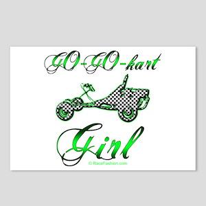 Go-Go-Kart Girl Postcards (Package of 8)
