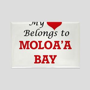 My Heart Belongs to Moloa'A Bay Hawaii Magnets