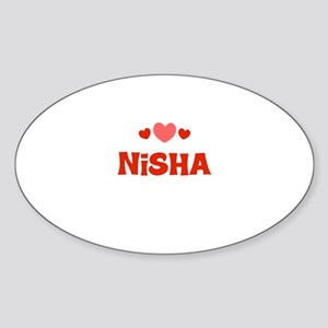 Nisha Oval Sticker