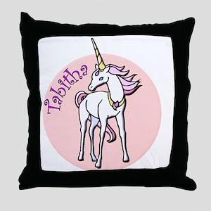Tabitha Unicorn Throw Pillow