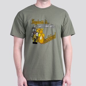 Happiness is a Bumblebee Dark T-Shirt