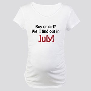 Boy or Girl: July Maternity T-Shirt