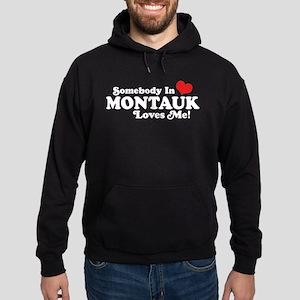 Somebody In Montauk Loves Me Hoodie (dark)
