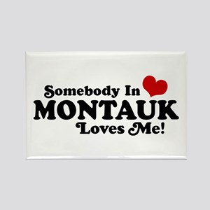 Somebody In Montauk Loves Me Rectangle Magnet