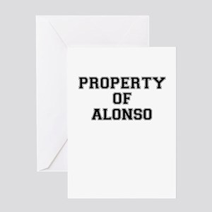 Property of ALONSO Greeting Cards
