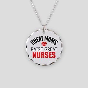 Moms Raise Nurses Necklace Circle Charm