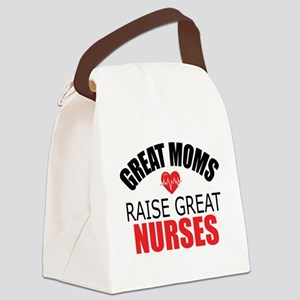 Moms Raise Nurses Canvas Lunch Bag
