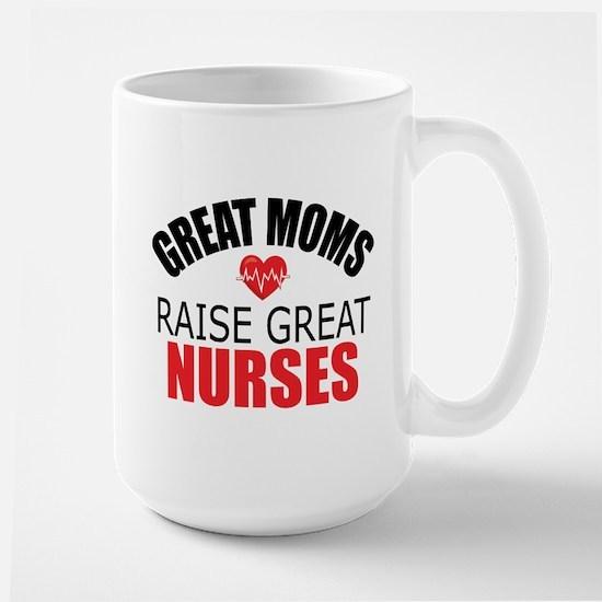 Moms Raise Nurses Large Mug