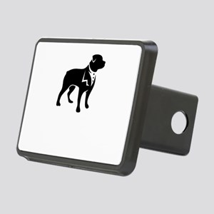 handsome dog Rectangular Hitch Cover