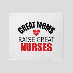 Moms Raise Nurses Throw Blanket