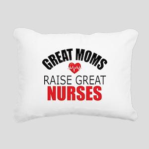 Moms Raise Nurses Rectangular Canvas Pillow