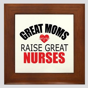 Moms Raise Nurses Framed Tile