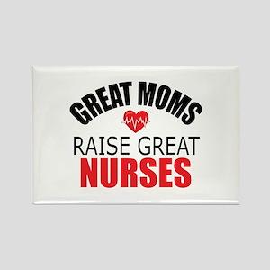 Moms Raise Nurses Rectangle Magnet