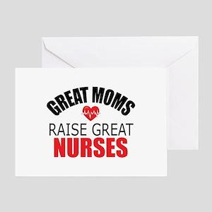 Moms Raise Nurses Greeting Card