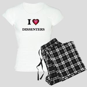 I love Dissenters Women's Light Pajamas