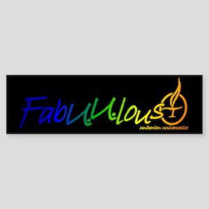 """FabUUlous"" Bumper Sticker"