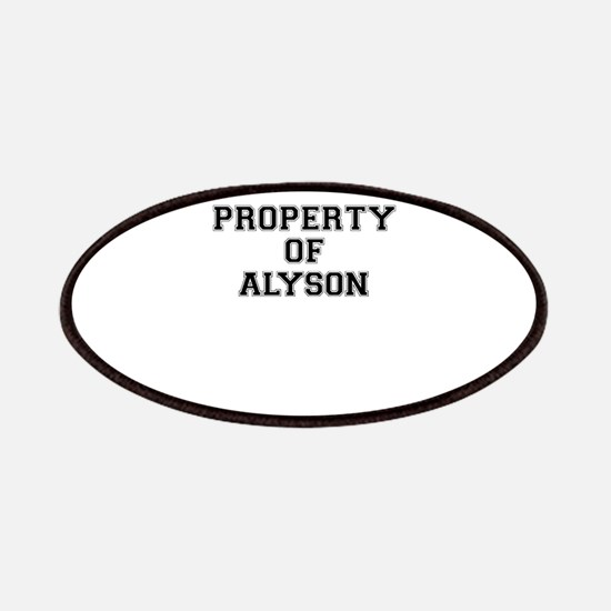 Property of ALYSON Patch