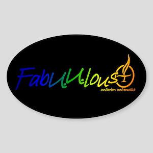 """""""FabUUlous"""" Oval Sticker"""