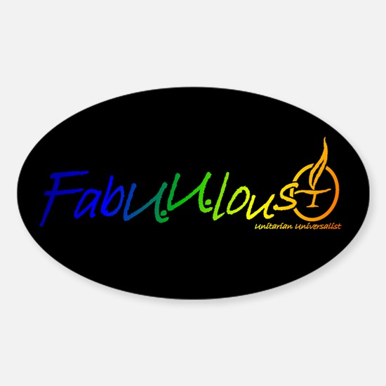 """FabUUlous"" Oval Decal"