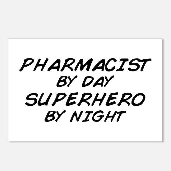 Pharmacist Day Superhero Night Postcards (Package