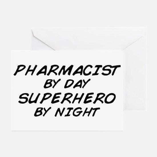 Pharmacist Day Superhero Night Greeting Cards (Pk