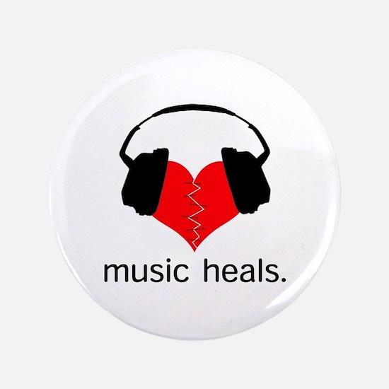 "music heals 3.5"" Button"