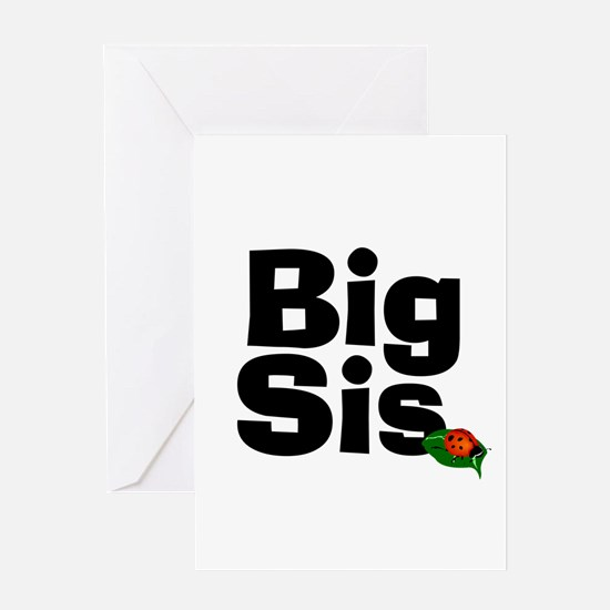 Big Sister Ladybug Greeting Card