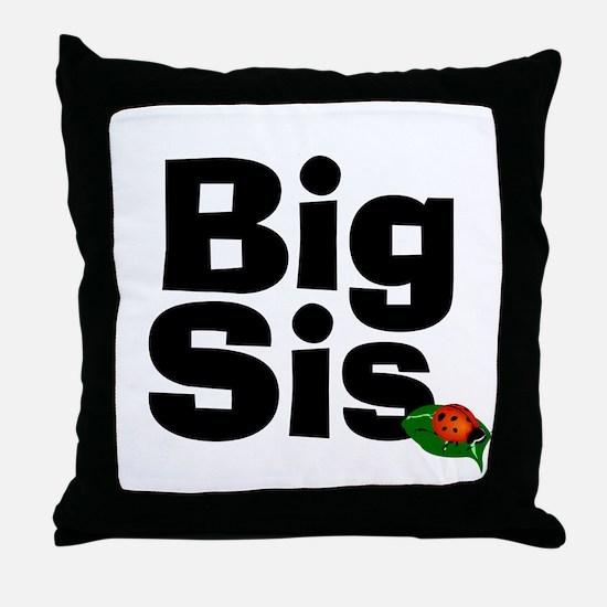 Big Sister Ladybug Throw Pillow
