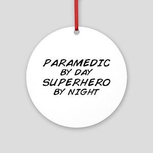 Paramedic Day Superhero Night Ornament (Round)