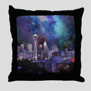 Spacey Seattle Throw Pillow