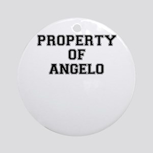 Property of ANGELO Round Ornament