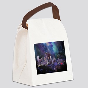 Spacey Seattle Canvas Lunch Bag