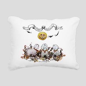 Westie Howling Halloween Rectangular Canvas Pillow