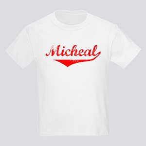 Micheal Vintage (Red) Kids Light T-Shirt
