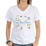 Dog Sport Addict Women's V-Neck T-Shirt