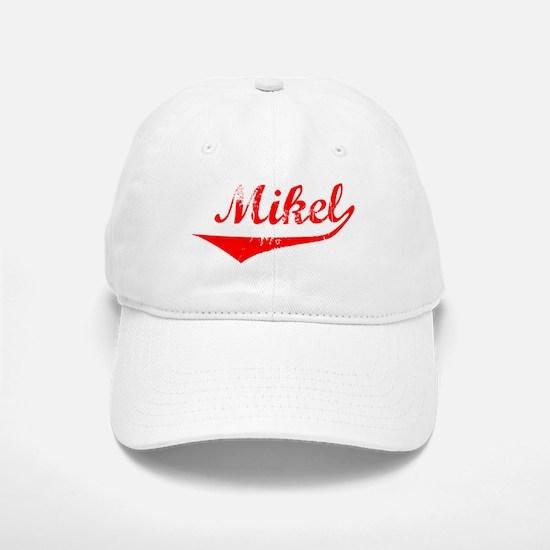 Mikel Vintage (Red) Baseball Baseball Cap