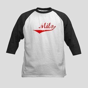 Milo Vintage (Red) Kids Baseball Jersey