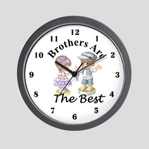 Brothers Are The Best Wall Clock