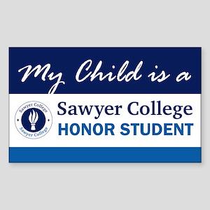 My Child is.. Sawyer College Rectangle Sticker