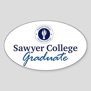Sawyer College Graduate Oval Sticker