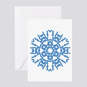 Frenchie Snowflake Greeting Card