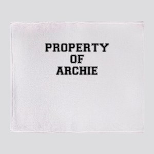 Property of ARCHIE Throw Blanket