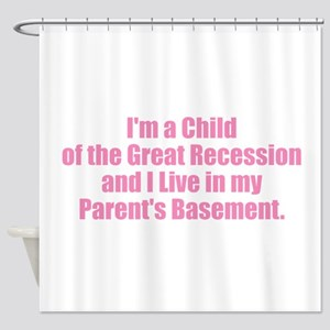 Parent's Basement - Pink Shower Curtain