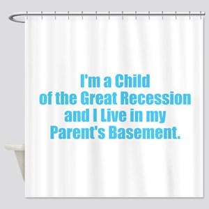 Parents Basement - Blue Shower Curtain