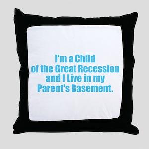 Parents Basement - Blue Throw Pillow