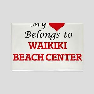 My Heart Belongs to Waikiki Beach Center H Magnets