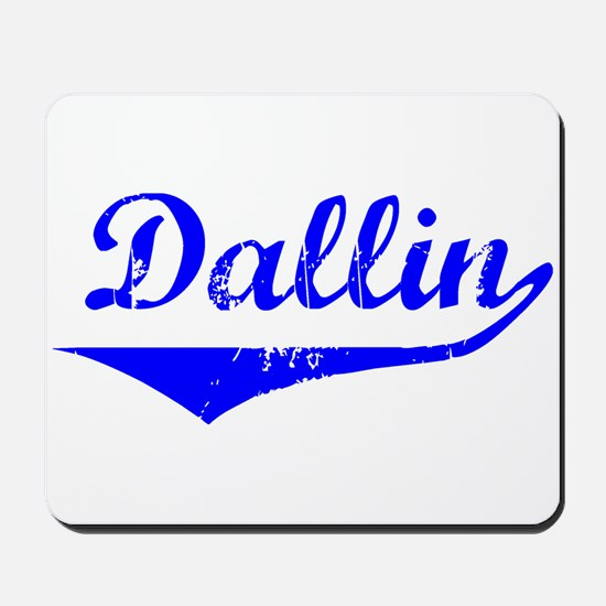 Dallin Vintage (Blue) Mousepad